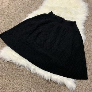 Moth Anthropologie black cable knit skirt small